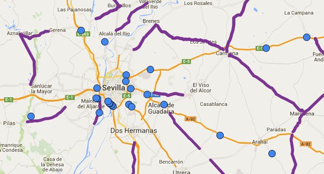 El mapa de los radares de tráfico en Sevilla